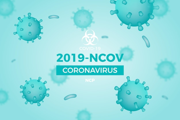 Monochromatische coronavirus achtergrond