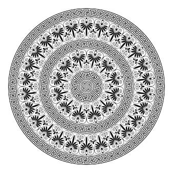 Monochromatische etnische naadloze texturen.