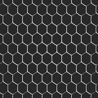 Monochromatische honingraat naadloze patroon achtergrond