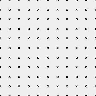 Monochromatische patroon met kruizen en cirkels