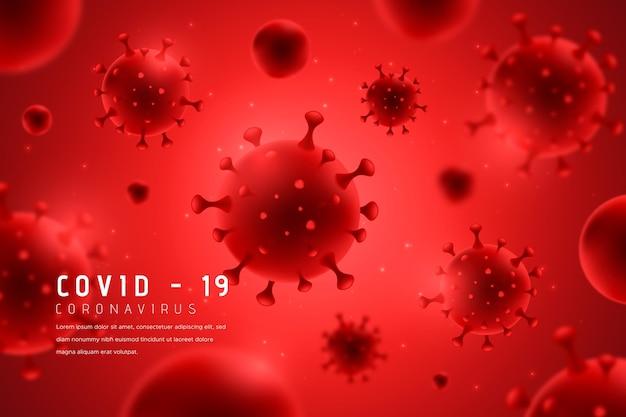 Monochromatische rode coronavirus achtergrond