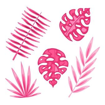 Monochromatische tropische bladeren