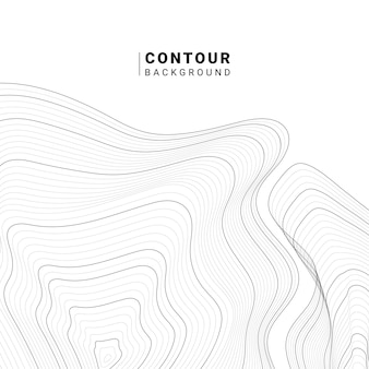 Monochrome abstracte contourlijn illustratie