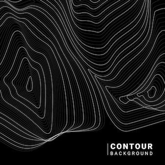 Monochrome abstracte contourlijn illustratie