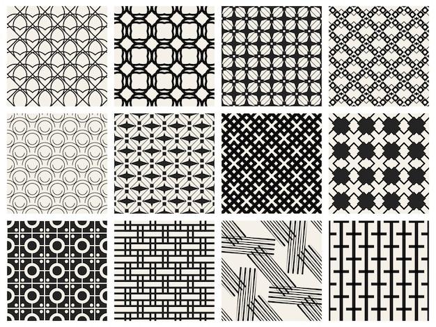 Monochrome geometrische naadloze patroonachtergrond.