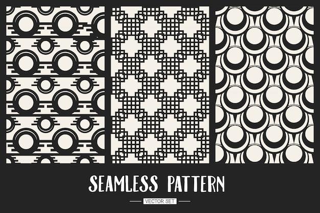 Monochrome geometrische patroon achtergrond instellen.
