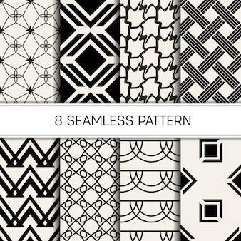 Monochrome geometrische patroon ingesteld.
