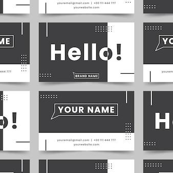 Monochrome visitekaartjes