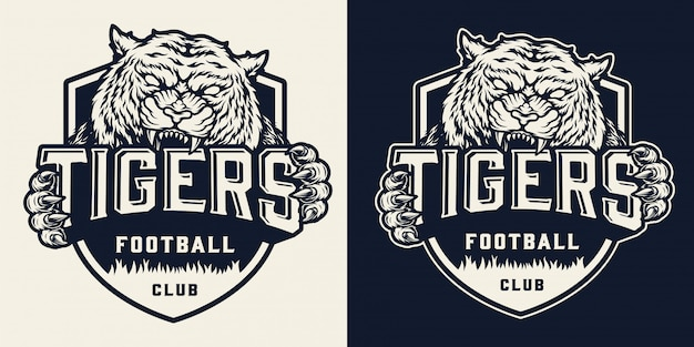 Monochrome voetbalteam-badge
