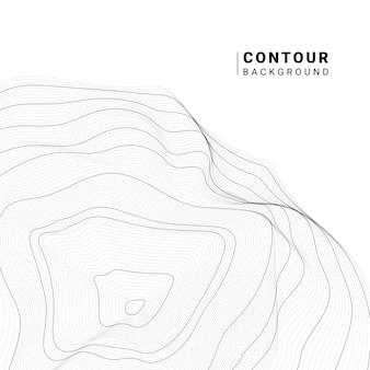 Monochroom abstracte contour lijnen collectie