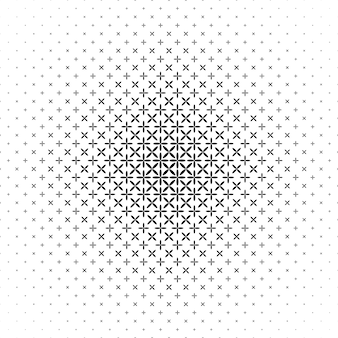 Monochroom abstracte ellips patroon achtergrond - zwart-wit geometrische vector grafisch