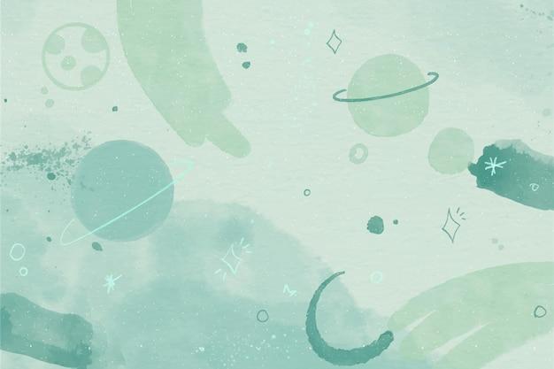 Monochroom aquarel galaxy behang
