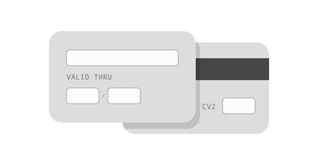 Monochroom creditcard sjabloon. banner van commerciële bankkaart voor online betalingstransacties zonder gebruik van contant geld en elektronische detailhandel, handig financieel bankieren vanaf een persoonlijke webaccount.