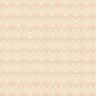 Monochroom geel art deco naadloos patroon