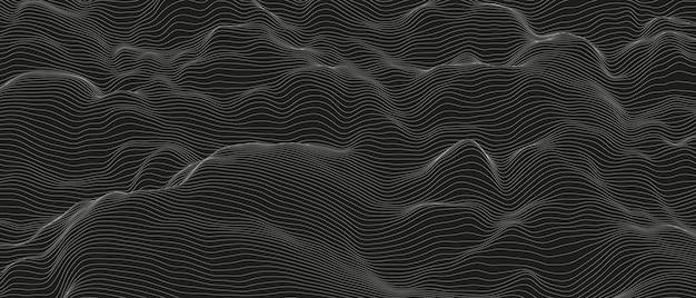 Monochroom geluidslijn golven abstracte achtergrond
