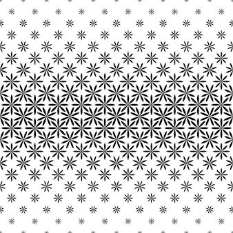 Monochroom geometrisch patroon - abstracte bloemen vector achtergrond illustratie van gebogen vormen