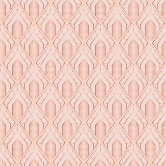 Monochroom lichtbruin art deco naadloos patroon