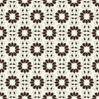 Monochroom naadloos geometrisch ornament