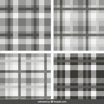 Monochroom tartan patronen collectie
