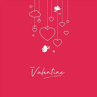 Monochroom valentine design