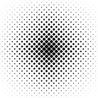 Monochroom vierkante patroon - geometrische abstracte achtergrond grafisch van hoekige afgeronde vierkanten