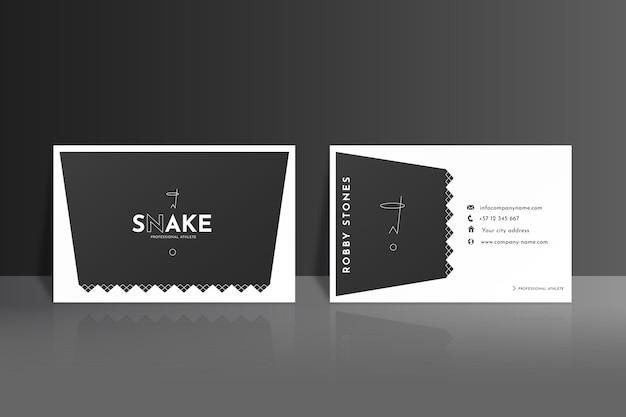 Monochroom visitekaartjes concept