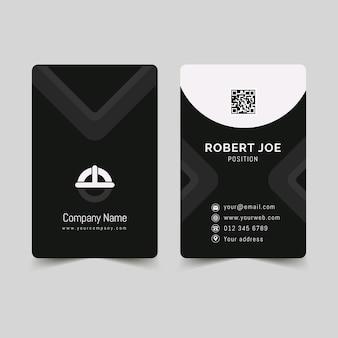 Monochroom visitekaartjes sjabloon set
