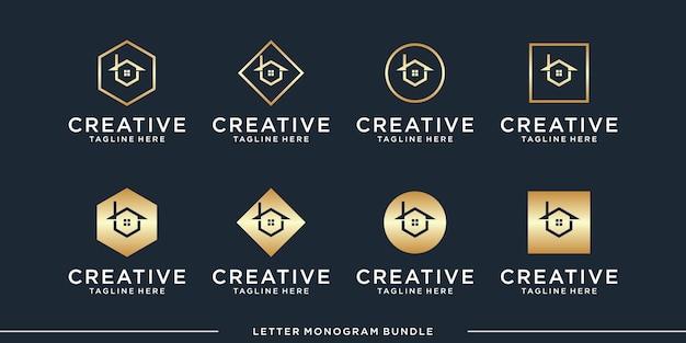 Monogram abstracte eerste b logo ontwerpsjabloon