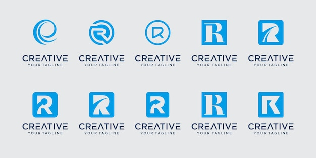Monogram beginletter r rr logo icon decorontwerp voor business of fashion business consulting