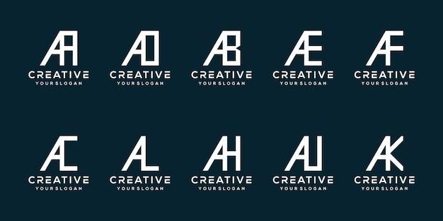 Monogram brief een logo-sjabloon instellen