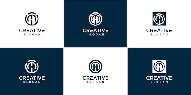 Monogram brief mw logo sjabloon