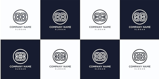 Monogram briefsjabloon bb logo instellen
