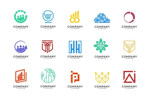 Monogram en moderne logo-ontwerpcollectie