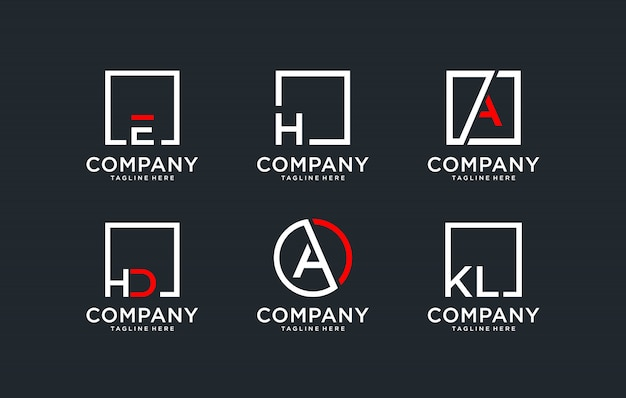 Monogram ingesteld logo