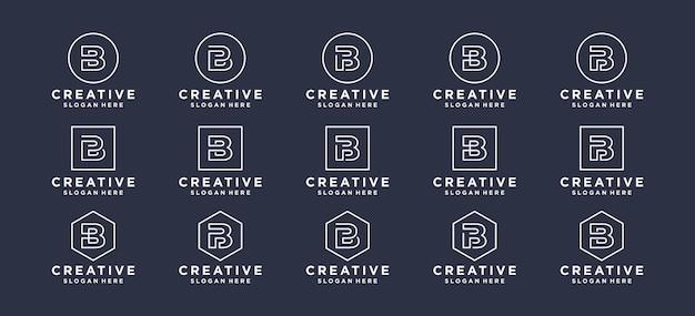 Monogram letter b initialen logo ontwerp.