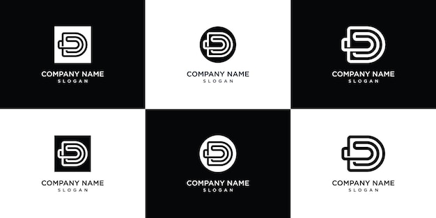 Monogram letter d logo sjabloon