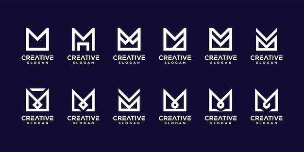 Monogram letter m-logo instellen