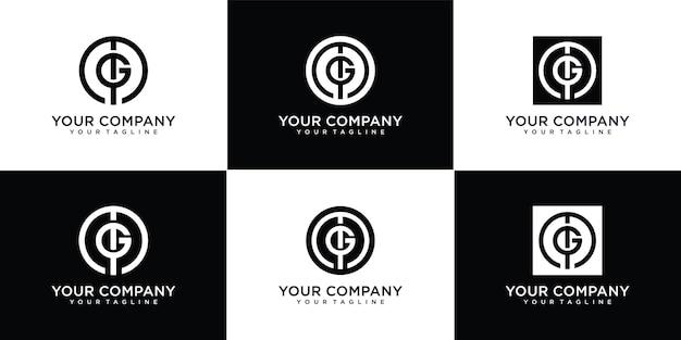 Monogram letter mg-logo instellen