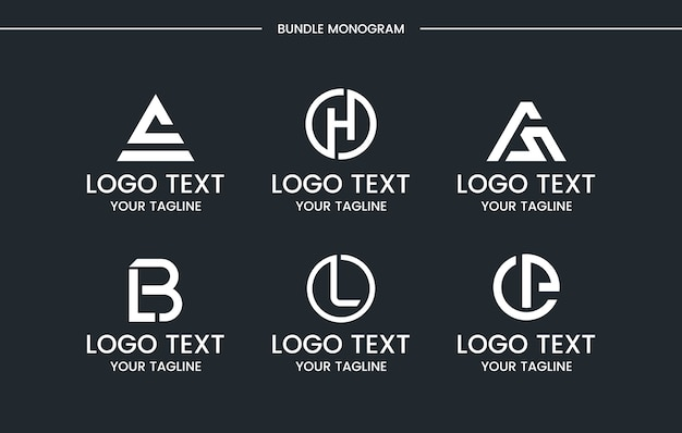 Monogram logo ingesteld