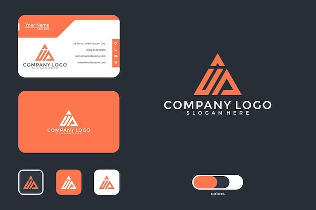 Monogram logo ontwerp en visitekaartje