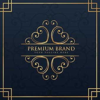 Monogram logo ontwerp voor premium en luxe merk