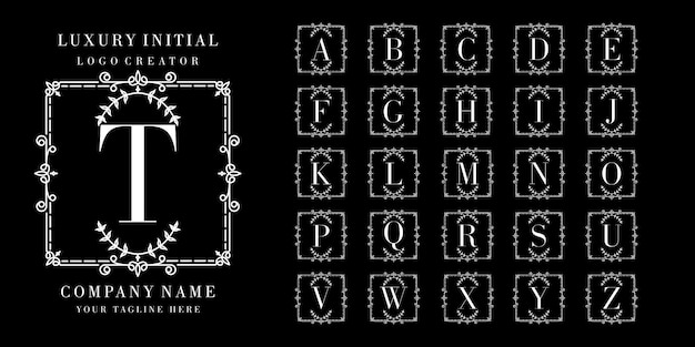 Monogram of beginletter sier logo collectie
