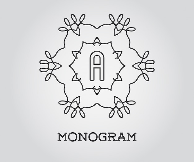 Monogram ontwerpsjabloon met letter