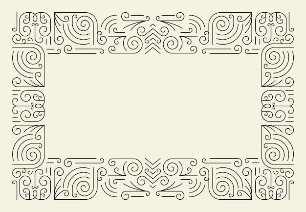 Monolijn frame. eenvoudige certificaatrand