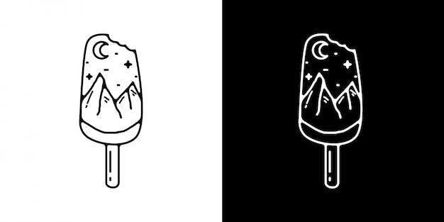 Monoline ijs illustratie