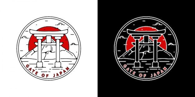 Monoline japan vintage badge