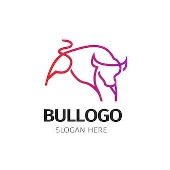 Monoline-logo van de stier