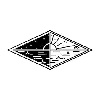 Monoline vintage badge