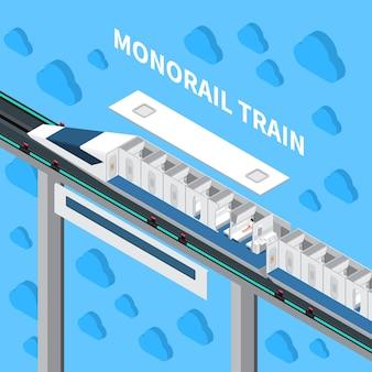 Monorail snelheidstrein