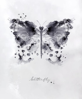 Monotype vlinder tekening
